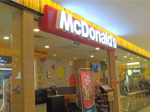 圧倒的存在感がある「マクドナルド」