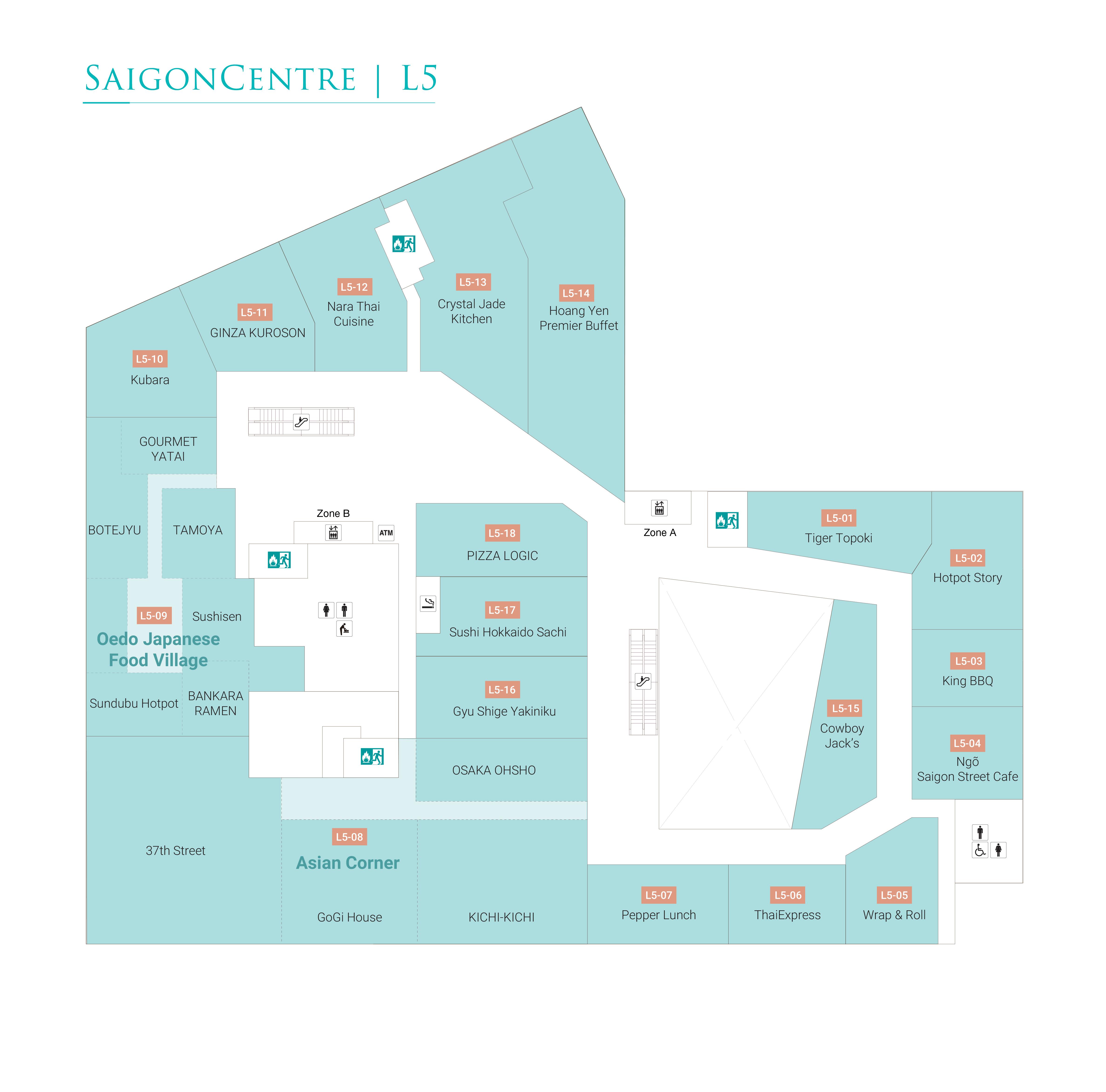 L5(5階) レストラン / カジュアルレストラン / フードコート