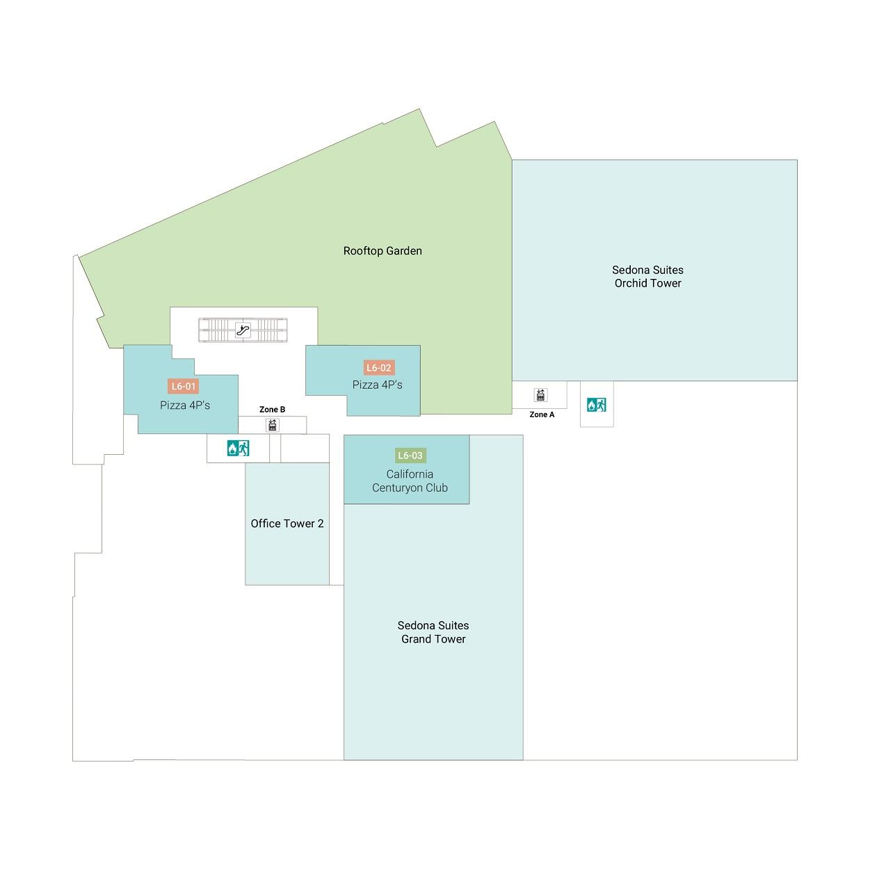 L6(6階)屋上庭園 / レストラン / ジム
