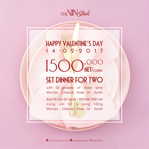 【The VinSteak】2月14日限定でバレンタインデーセットが登場!