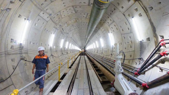 ホーチミン初の地下鉄、日本製機器を駆使して早くも五分の一が完成,ベトナム,ホーチミン,日本,地下鉄,鉄道,交通,工事,建築