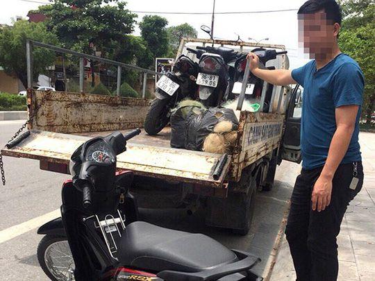 タインホア省警察、漁網を使用しスピード違反者を検挙か,ベトナム, 交通警察, 漁網, スピード違反,