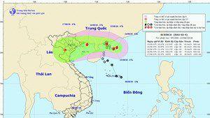 台風16号の影響でベトナム北部豪雨の見込み