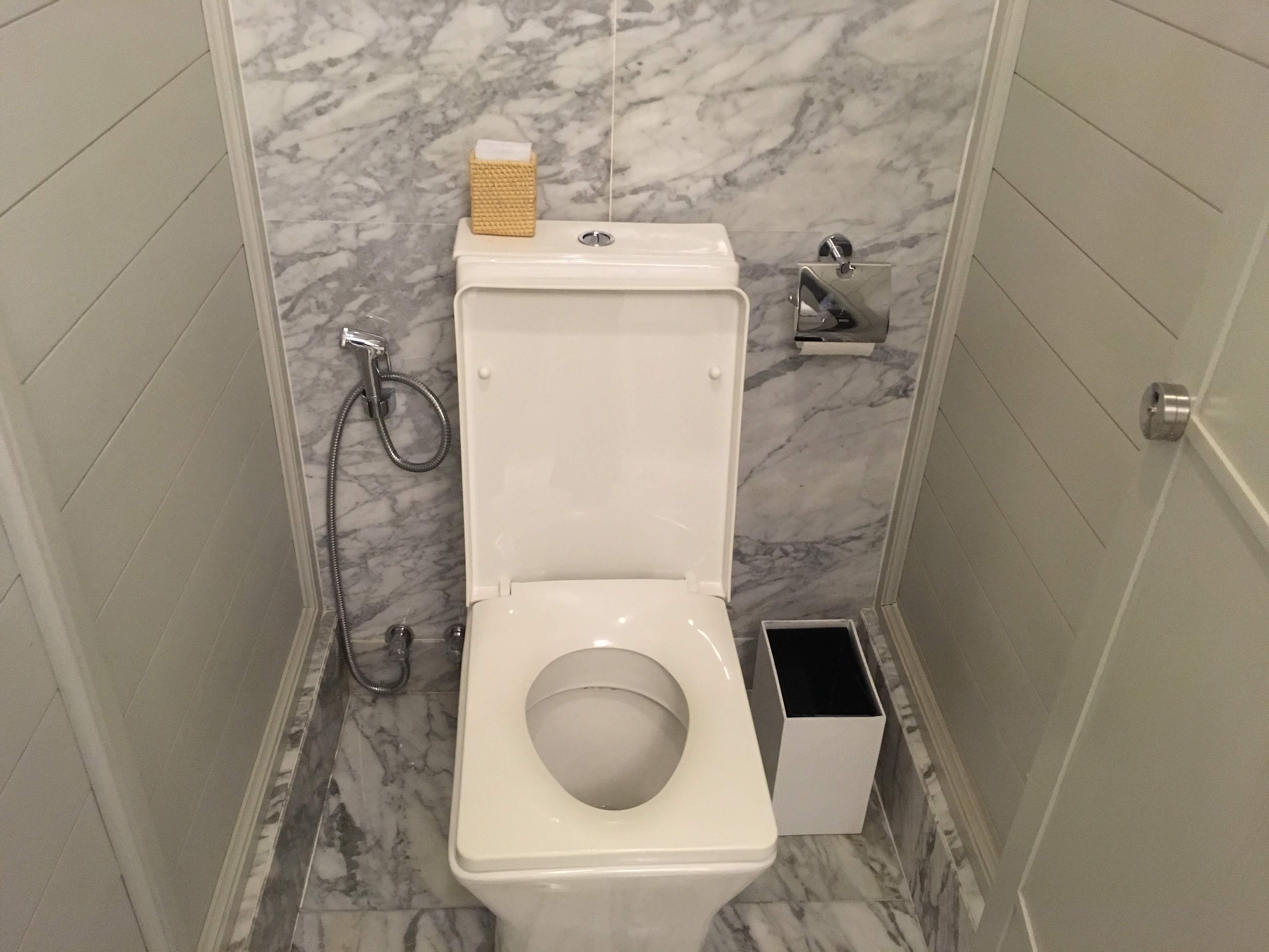 フーコックのホテルにあるトイレ