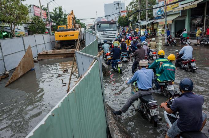 ホーチミン、洪水