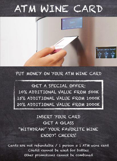 ハノイのワインバー&ビストロからお得で便利なATMワインカードのお知らせ【Colette's32】