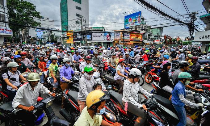 ベトナム、依然としてバイク利用者増加