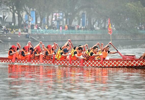 ハノイ、今年のドラゴンボートレースの日程を公開,ベトナム,ハノイ,ドラゴンボート