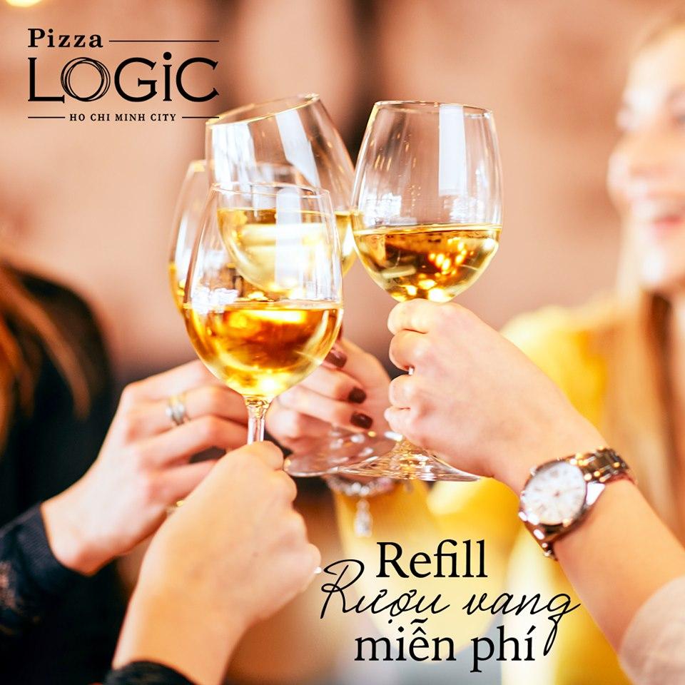 6月7日まで限定!! 【Pizza LOGiC】赤&白ワイン90分飲み放題19.8万ドン!