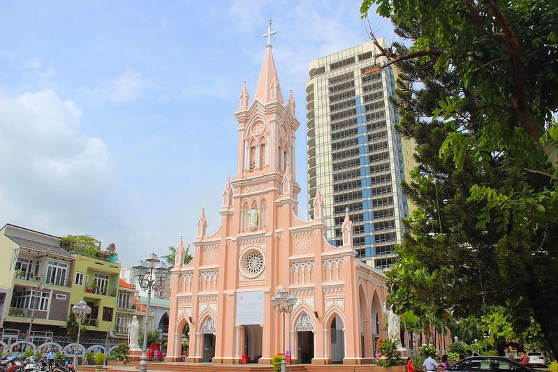 ベトナム,ダナン,ダナン大聖堂,ピンク教会