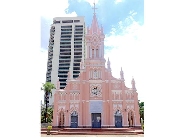 ベトナム,ダナン,ダナン大聖堂,教会,ピンク
